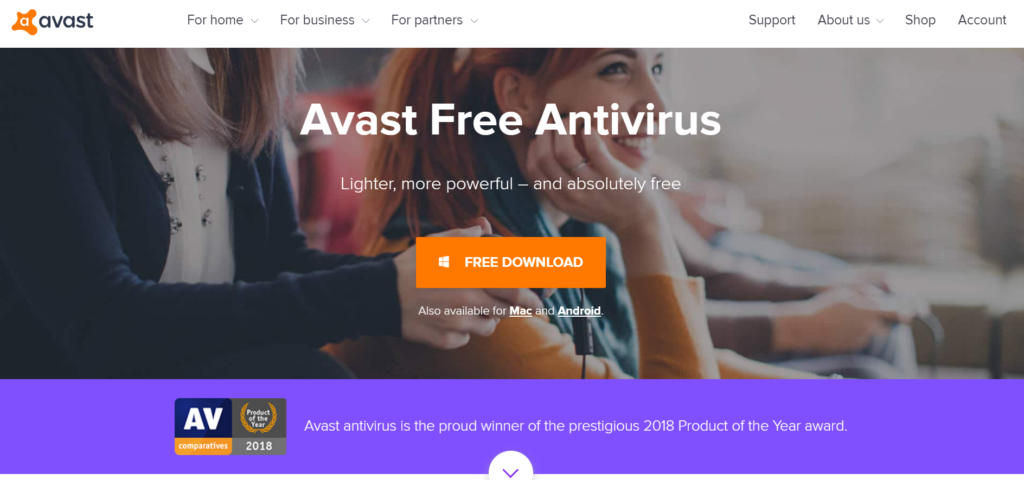 Open source antivirus, Avast free antivirus