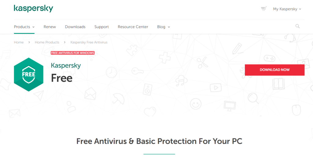 Open source antivirus, Kaspersky antivirus