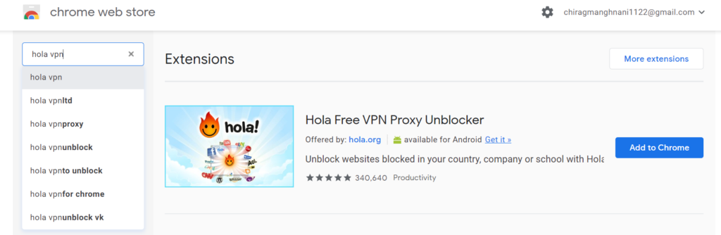 Hole-vpn-chrome-web-store