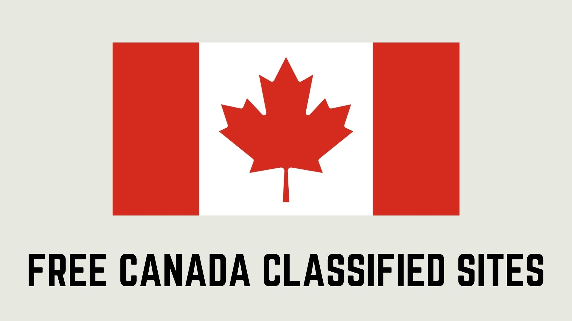 Free Canada Classified Sites